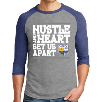 Hustle and Heart - Alternative Dugout 3/4 Sleeve Vintage 50/50 Tee Thumbnail