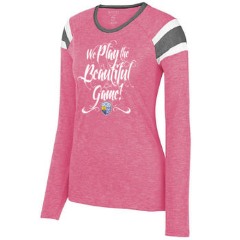Beautiful Game - Ladies Long Sleeve Fanatic Tee Thumbnail