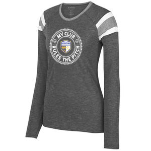 Rules The Pitch - Ladies Long Sleeve Fanatic Tee  Thumbnail