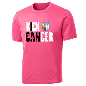 Force FC - Kick Cancer (I Can) T-Shirt - Port & Company Performance Top  Thumbnail