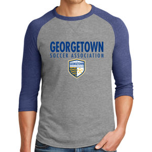Georgetown SA - Royal w/ Crest - Alternative Dugout 3/4 Sleeve Vintage 50/50 Tee  Thumbnail