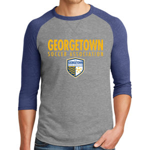 Georgetown SA - Gold w/ Crest - Alternative Dugout 3/4 Sleeve Vintage 50/50 Tee  Thumbnail