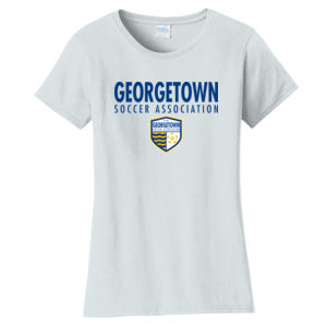 Georgetown SA - Royal w/ Crest - Ladies Fan Favorite Tee  Thumbnail