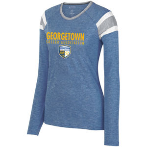 Georgetown SA - Gold w/ Crest - Ladies Long Sleeve Fanatic Tee  Thumbnail