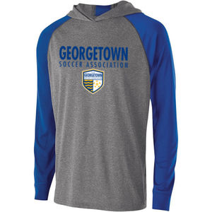 Georgetown SA - Royal w/ Crest - Holloway Youth Echo Hoodie  Thumbnail