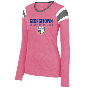 Georgetown SA - Royal w/ Crest - Ladies Long Sleeve Fanatic Tee  Thumbnail